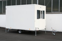 WEIRO® CUBIC as an unbraked trailer with a permissible total weight of 750 kg